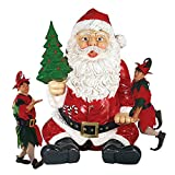 Christmas Decorations - Giant 7 Foot Tall Sitting Santa Statue with Hand Seat for Photo Booth Props