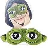 Cute Cartoon 3D Frog Sleeping Mask Eye, Funny Animal Sleep Eye Mask Shade Cover for Travel Office Snap Women Men Kids (1 Pack)