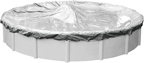 Pool Mate 5512-4 Heavy-Duty Silverado Winter Pool Cover for Round Above Ground Swimming Pools, 12-ft. Round Pool