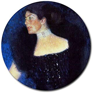 Portrait of Rose Von Rosthorn Friedmann By Gustav Klimt Round Mouse Pad