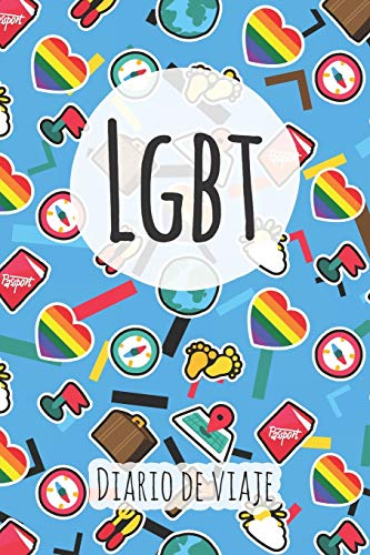 Diario de viaje LGBT: Planificador de viajes I Planificador de viajes por carretera I Cuaderno de puntos I Cuaderno de viaje I Diario de bolsillo I Regalo para mochileros I Agenda de viaje