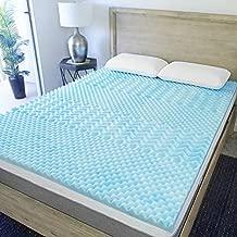 Sure2Sleep 5-Zone Gel Swirl Memory Foam Mattress Topper Made in USA 2-Inch (Queen)