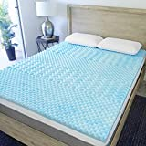 Sure2Sleep 5-Zone Gel Swirl Memory Foam Mattress Topper Made in USA 3-Inch (King)