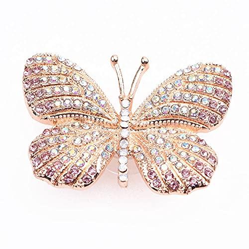 Abalorios de cocodrilo de la serie personalizada de la mariposa de los zapatos de los encantos de Bling Rhinestone Metal Charms para la decoración del zapato de las niñas (Color: B8722)