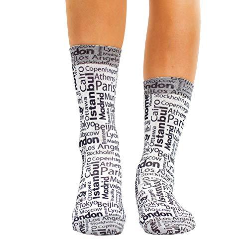 Wigglesteps Damen Socken Fav City, one Size, 36-40