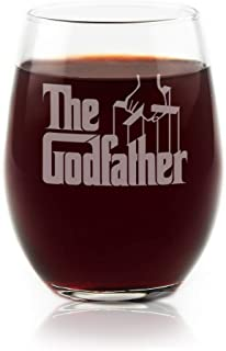 The Godfather Movie Stemless Wine Glass Officially Licensed Collectible Premium Etched By Movies On Glass 15 Ounces