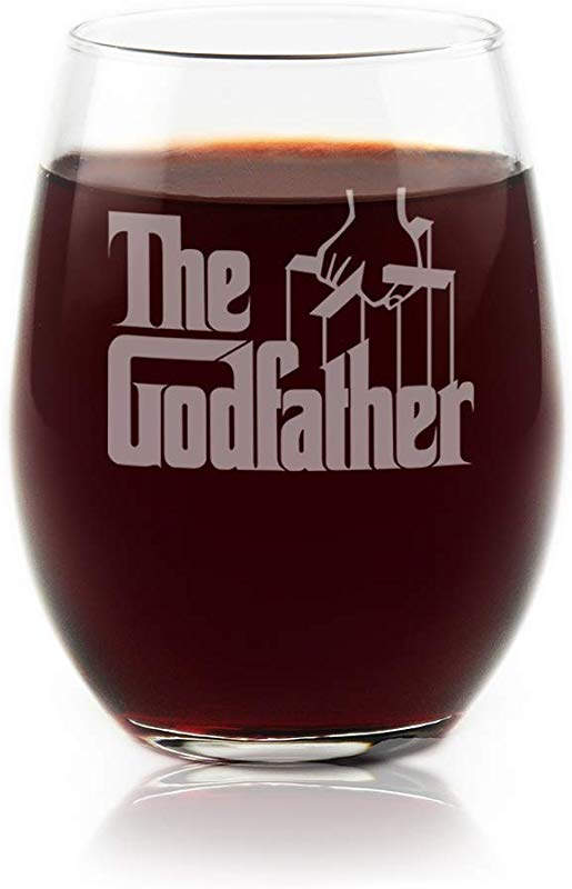 Movies On Glass Premium Etched The Godfather Movie Engraved Logo Stemless Wine Glass 16 Ounces