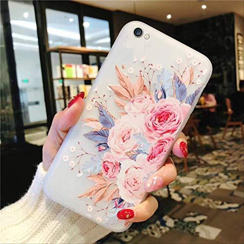 Funda Daisy para iPhone X XR XS MAX 12 Mini 11 Pro MAX Funda para iPhone 6 6s 7 8 Plus SE 2020 Funda Blanda de Silicona con Relieve en 3D para iPhone 6 Plus T1