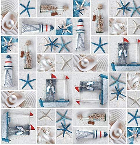 Wachstuch Wachstischdecke Tischdecke Gartentischdecke Seestern Breite & Länge wählbar 130 x 170 cm Eckig abwaschbar