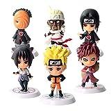 Yisscen Acción Juguetes Modelo Muñecas Mini Muñeca de Naruto Niños Mini Juguetes Decoraciones Pastel...