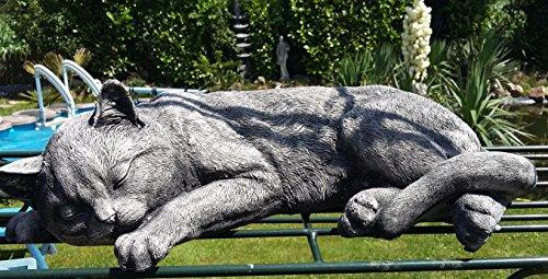 Katze Mama ca. 8000 gr. (8 kg) schwer 42 cm lang in Steinguss, Steinfigur, nicht nur für den Garten