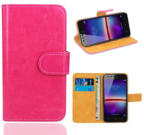 Huawei Y3 II Handy Tasche, FoneExpert® Wallet Case Flip Cover Hüllen Etui Ledertasche Lederhülle Premium Schutzhülle für Huawei Y3 II / Huawei Y3 2