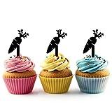 Innovedesire Carrot Cupcake Cake Topper para tartas decoración para ceremonia de cumpleaños celebración boda decoración de acrílico Topper para Cake Fiesta Pastel Decoraciones 10 piezas
