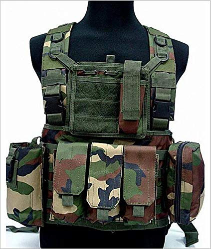 HUMTUS Taktischen Weste Brustschützer Armee Airsoft Weste Kampf Trainings CS Fans SWAT Tactical Weste Outdoor Fans CS Spiel Cosplay Weste des Counter Strike Spiel Jagd Weste (Green)