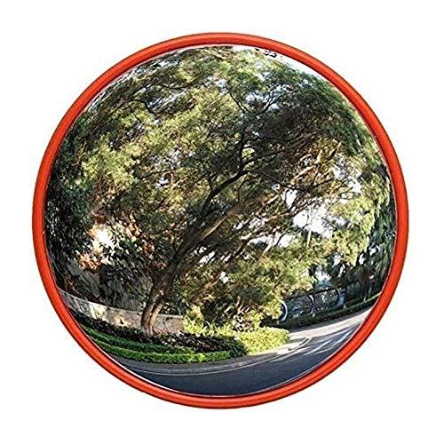 Espejo de Tráfico El tráfico exterior gran angular, lente gran angular de ángulo muerto Pc plástico espejo curvo convexo carretera Espejo gran angular en el interior y la zona exterior del camino Espe