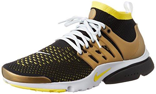 Nike Air Presto Flyknit Ultra, Zapatillas de Deporte para Hombre, Negro (Blk/Yllw Strk-Mtllc Gld-NTRL G), 38 1/2 EU