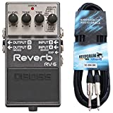 Boss RV-6 Reverb - Pedal de reverberación para estudio y cable de guitarra keepdrum