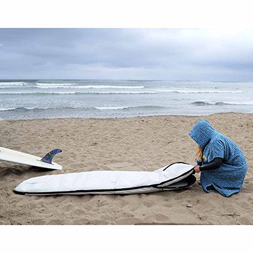 Surf Poncho / Adult Hooded Towel / Changing Towel / Wetsuit Changing Robe / Swim Parka - Changing Poncho Charcoal Black / Indigo Blue; Saves a Sea Turtle's Life - Black