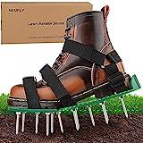 NEUFLY Chaussures aérateur de gazon - Pliable - Ergonomie - Taille universelle - Aérateur de gazon - Aérateur de pelouse - Vert