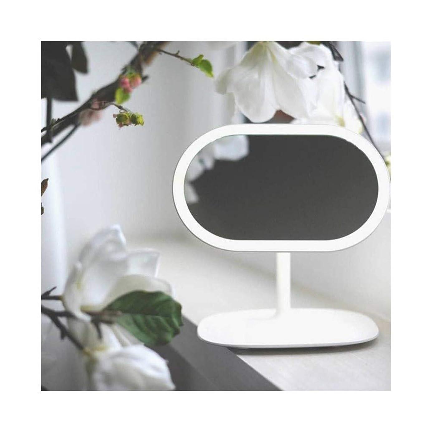 シャーク神秘的なアクセサリーGEABQJ 2個 LED化粧鏡 デスクトップ 知的な 多機能 調整可能 フィル顕微鏡、 220x226x148mm (Color : White)