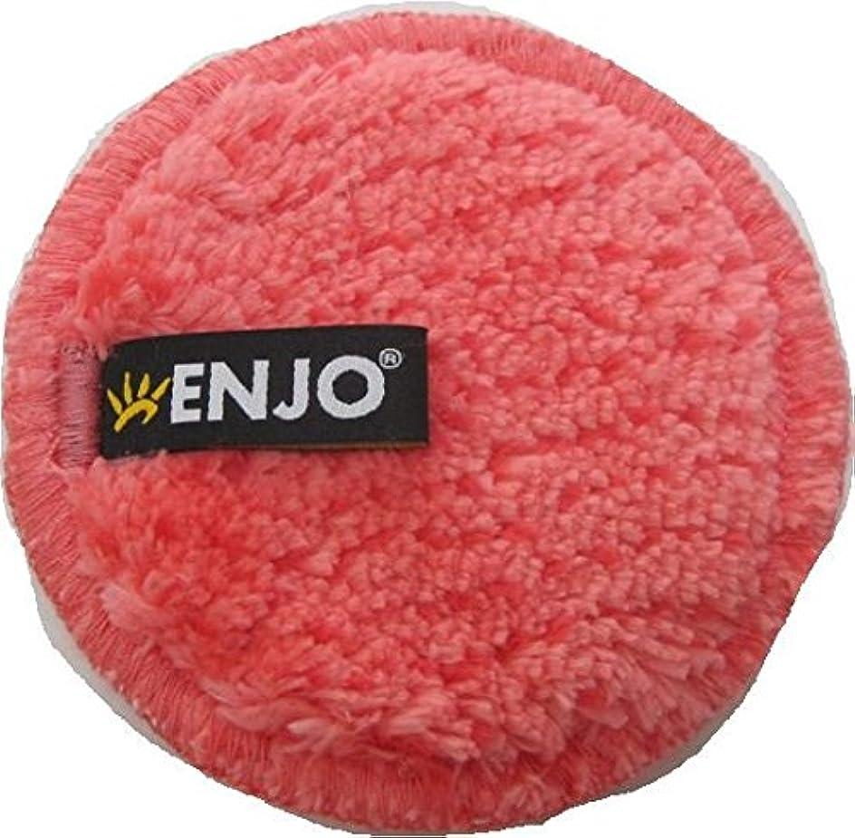 適性バラバラにする遊具ENJO エンヨー マイクロファイバー越えた 化粧落とし 洗顔 モフモフクリーンパッド 速乾性 送料無料 (チェリー)