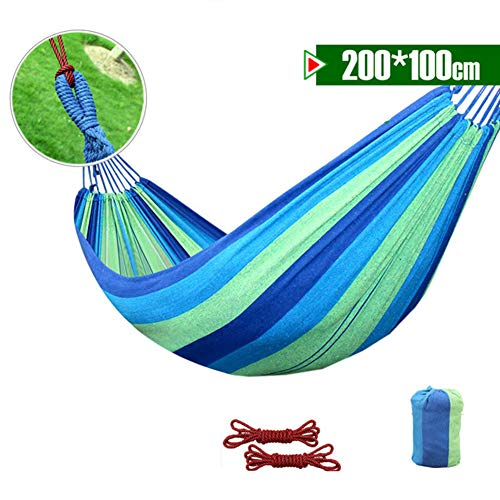 ZXL hangmat, draagbaar, ademend en comfortabel, schommel van lichte stof, voor camping en buiten of voor tuin en reizen