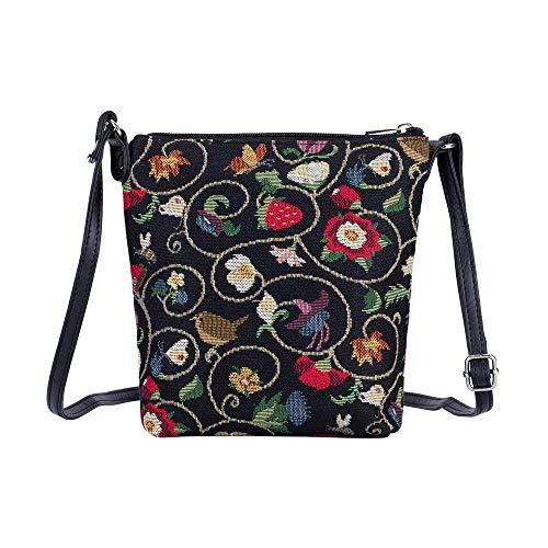 Signare Tapisserie Kleine Tasche Damen, Handtasche Damen Klein, Reisepass Tasche, Mini Handtasche (Jacobean Dream)