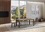 Itamoby, Mesa línea extensible roble natural 90 x 180 cm alargada 284