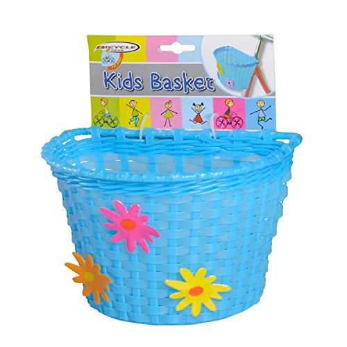 Warenhandel Koning Fietsmand voor kinderen, fietsmand stuurmand stuurwielmand - roze, blauw of wit