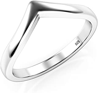 925 Sterling Silver Chevron Stackable Ring