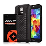 JUBOTY Samsung Galaxy S5 Extended Battery 6400mAh with Cover & Case [229% Battery]