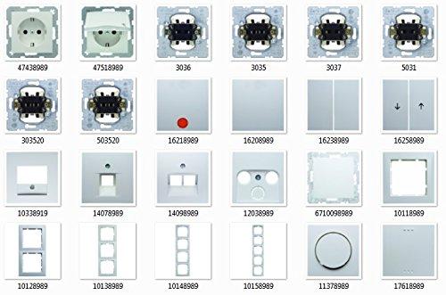 Berker polarwei glnzend S.1, Schalter & Steckdosen - Set Auswahl