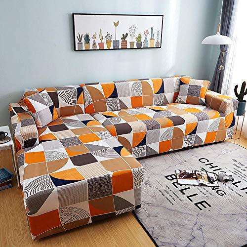 Topashe Funda sofá Duplex,Funda de sofá con Todo Incluido, Funda de sofá elástica-A_90-140cm,elástico Tejido Protector por sofá Funda