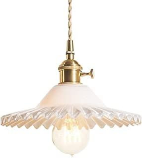 Vintage Glass Pendant Lights-Simple Creative E27 Light Shade Restaurant Bedroom Lighting(Bulb Not Included)