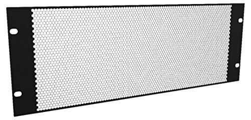 D/Penn R1385/4UVK 4U 1,5 mm plat geperforeerd stalen rackpaneel - zwart