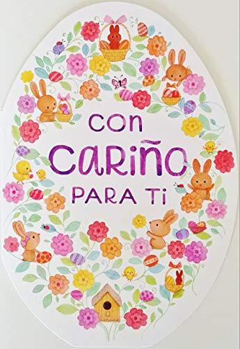 """Con Carino Para Ti - Feliz Pascua Happy Easter Greeting Card in Spanish -""""Llena de lindas bendiciones"""""""