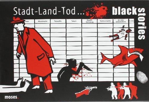 Moses 90021 black stories - Stadt Land Tod   Die rabenschwarze Stadt Land Fluss Version