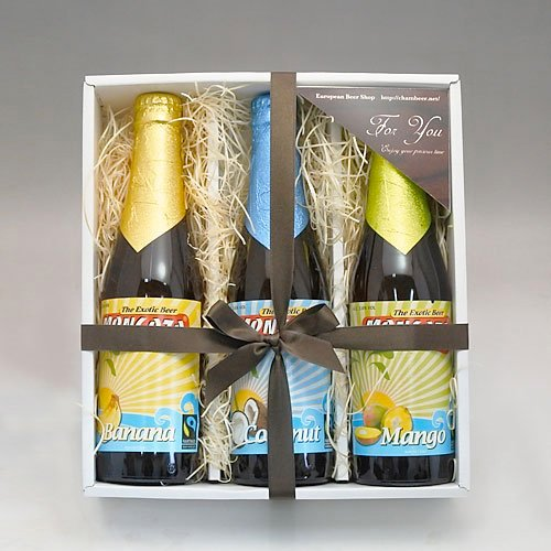【即日発送】ベルギービール モンゴゾ 3種3本 T(バナナ・マンゴー・ココナッツ)セット[飲み比べセット] (お中元ギフト)