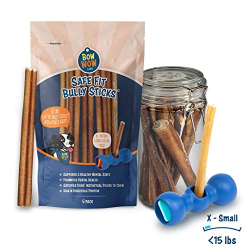 Bow Wow Labs Bully Buddy Starter Kit - Anti-Choking Bully Stick Safety Device for Dogs (X-Small)