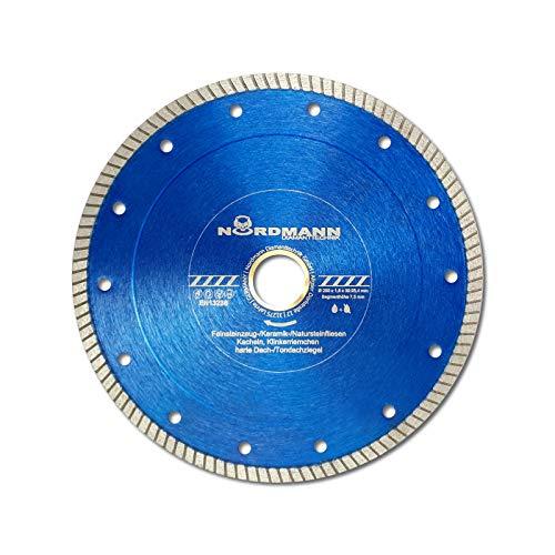 Diamant-Trennscheibe - NORDMANN FS-850-180 x 22,23 für Fliesen, Feinsteinzeug, Keramik, Naturateinfliesen etc.