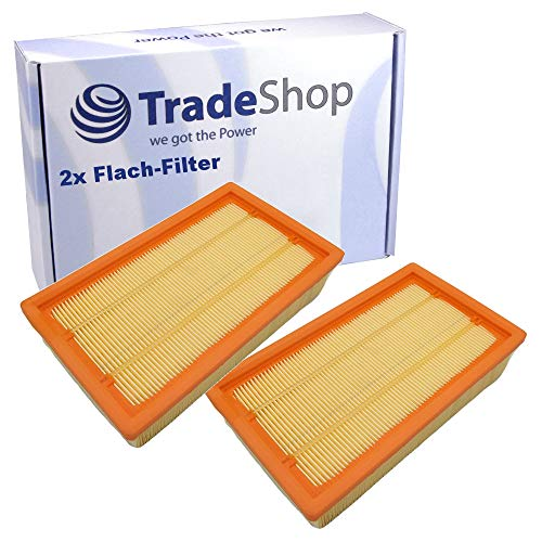 2x Flachfalten-Filter Lamellenfilter für Flex VCE 35 VCE 35 L MC VCE 35 L AC VCE 45 H AC VCE 45 M AC Hilti VC 20 UM VC 40 UM VC-20 VC-40 Kärcher KM 70/30 C Bp KM 70/30 C Bp Adv KM 70/30 C Bp Pack Adv