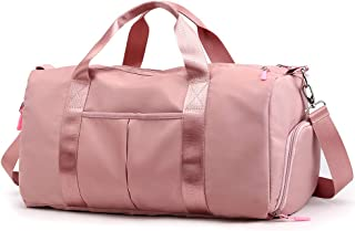 Forestfish Sports Gym Bag Travel Duffel Bag with Dry Wet Pocket & Shoes Compartment for Women and Men