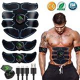 Appareil Abdominal, Electrostimulateur Musculaire ABS Trainer EMS Smart Ceinture USB de Charger Abdominal Gym Fitness...