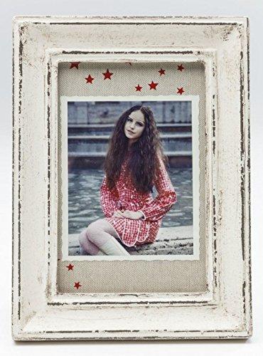 Kare Bilderrahmen Shabby Chic Weiß 10 x 15 cm