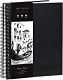 Cuaderno de Bocetos de Artista A4 - Tapa Dura, Papel muy Grueso de 200 gm2 - Encuadernado en Espiral para Niños, Profesionales, Dibujar y Hacer Bocetos - 21x29 cm, 40 hojas, 80 Páginas