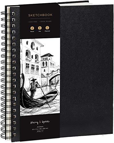 Cuaderno de Bocetos de Artista A4 - Tapa Dura, Papel muy Grueso...