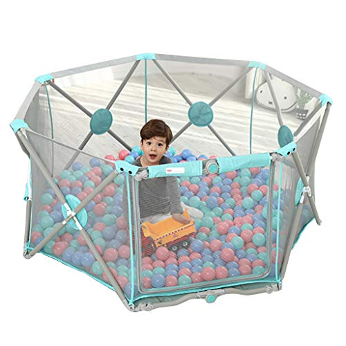 Buy Bargain LDAOS Safety Protection Playpen for Baby Foldable and Portable, Heptagon Folding GG-45I1...