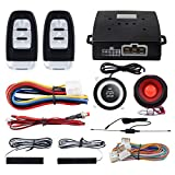 EASYGUARD EC003 Smart Key PKE Passive Keyless Entry Car Alarm System Push Start Button Remote Engine Start Remote Trunk Release DC12V