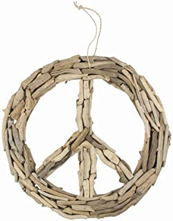 World Buyers Driftwood Peace Sign LRG 19