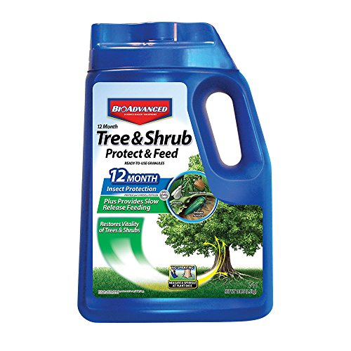 Bayer Advanced 701910 12 Months Tree and Shrub Protect and Feed Granules, 10-Pound